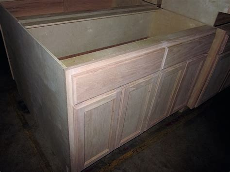cheap kitchen sink base units kitchen cabinets ga 48 quot inch oak sink base 8168