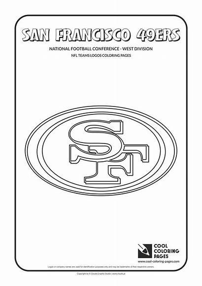 Coloring Nfl 49ers Pages Football Logos Teams