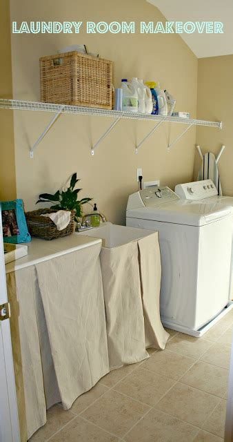 no sew utility sink skirt laundry room makeover and no sew sink skirt the happier