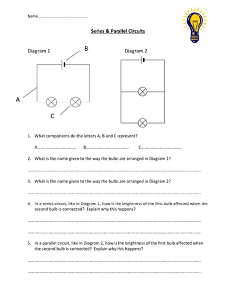 Series & Parallel Circuits Worksheet By Edp10ch  Teaching Resources Tes