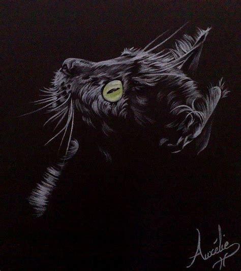 Dessin Sur Papier Noir Chat Dans La P 233 Nombre Crayon