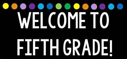 Grade 5th Welcome Fifth Hello