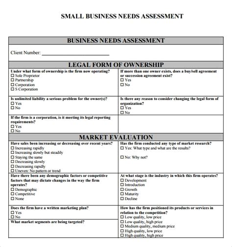 Needs Assessment Template Needs Assessment Template Peerpex
