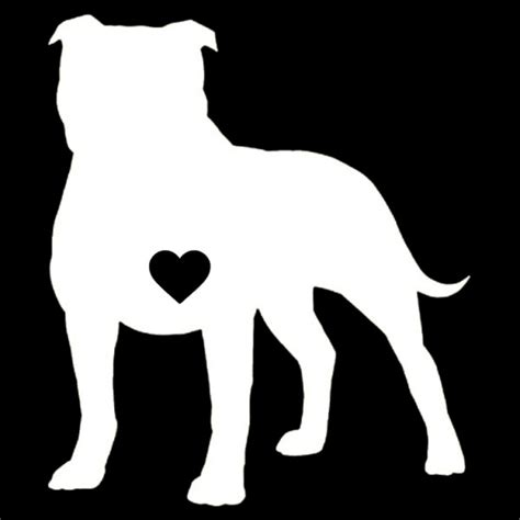 pit bull heart decal stirred strung