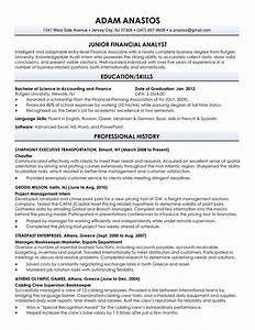 Resume sample for fresh graduate best professional for Graduate resume