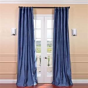 Winter blue textured dupioni silk curtain stock keeping for Silk curtains texture