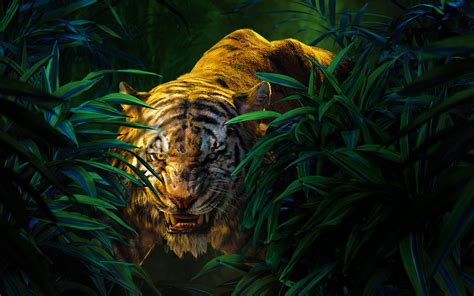 wallpaper jungle book shere khan movies
