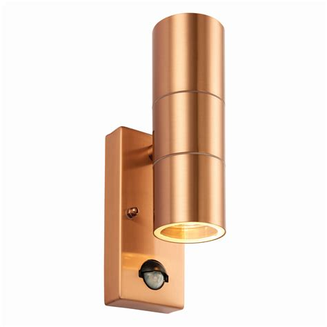 pir stainless steel double outdoor wall light pir stainless steel double outdoor security wall light