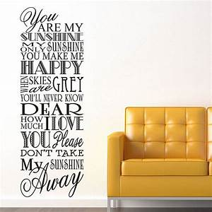 you are my sunshine wall art you are my sunshine wall With beautiful migi sweet sunshine wall decals