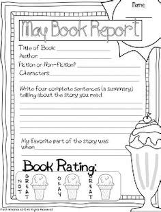 Book Reports on Pinterest | Book Reports, 1st Grade Books