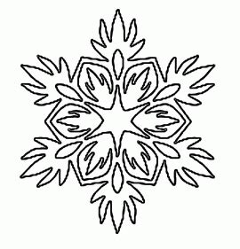 small snowflake template paper snowflake templates