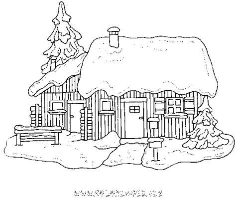 dessin de chalet de montagne coloriage chalets et maisons de noel et montagne gratuit 9872 noel