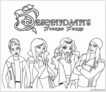 Descendants Wicked Pages Coloring