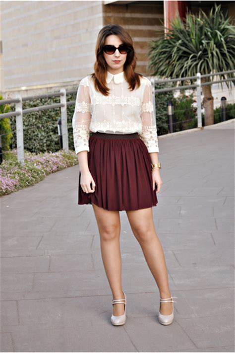 19 Fab Ways to Wear Burgundy Skirts in summer u2013 Designers Outfits Collection