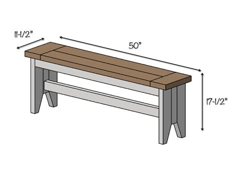 Kitchen Table Bench Plans Free by Diy Farmhouse Bench Free Plans Rogue Engineer