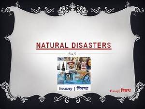 An Essay on 'Natural Disasters' in English Language - YouTube