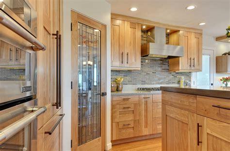 contemporary kitchen  quartz countertops  red birch