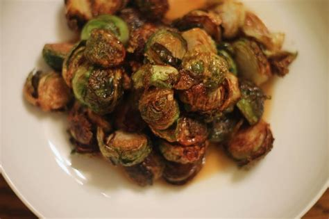 cuisine gastrique fried sprouts with apple gastrique back on track