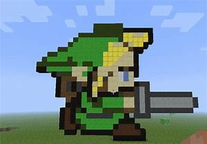 Link Minecraft Pixel art by Ask--TailsDoll on DeviantArt