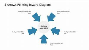5 Arrows Pointing Inward Diagram For Powerpoint