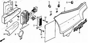 Honda Motorcycle 1982 Oem Parts Diagram For Left Side