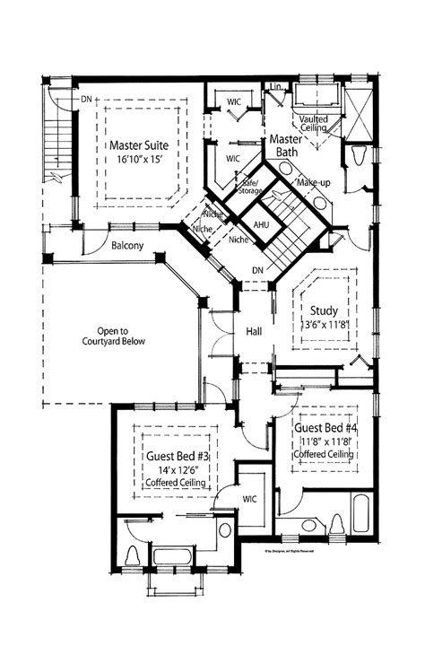 courtyard home plans modern house plans courtyard pool modern house