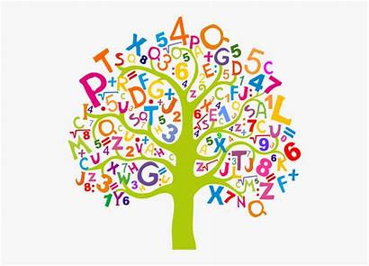 Clipart Tree Numbers Letters Literacy Transparent Clipartkey