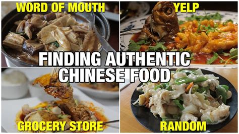 find authentic chinese food  america youtube