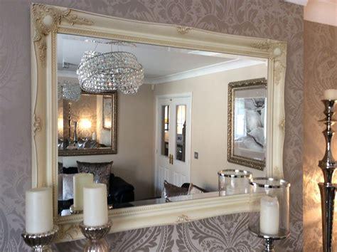 shabby chic mirror uk extra large decorative cream shabby chic wall mirror 46inch x 36inch save s
