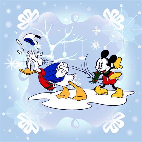 Frank Avelar: Winter Wallpapers created for Disney Mobile