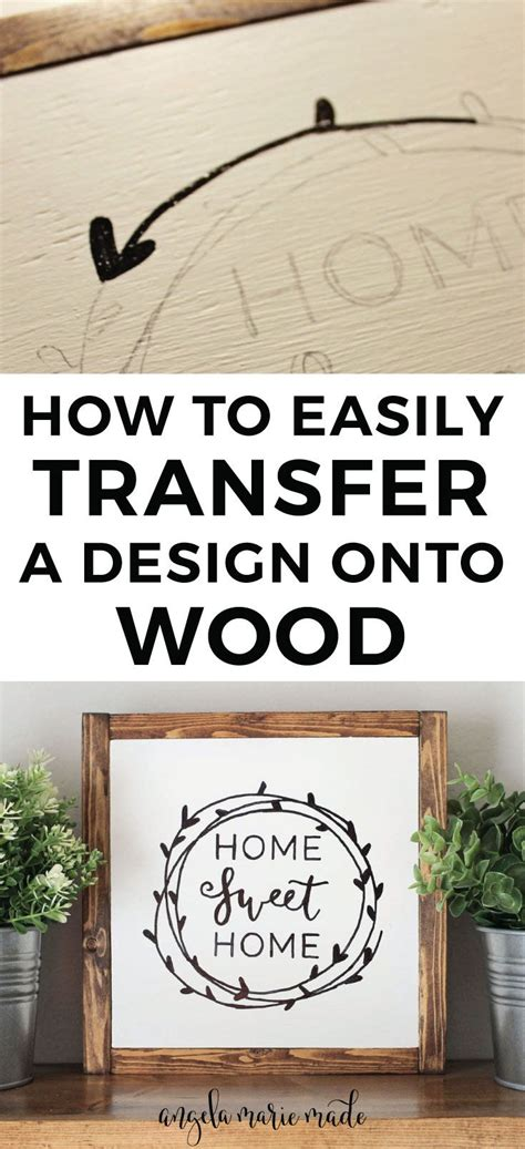 easily transfer  design  wood angela marie