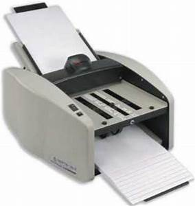 martin yale 1601 air feed autofolder with operating speeds With martin yale letter folder