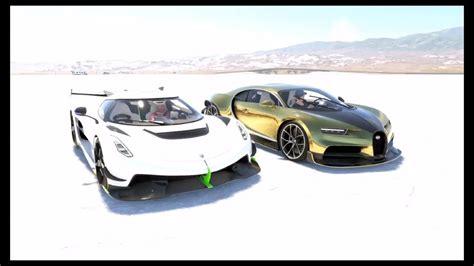 Koenigsegg jesko absolut vs bugatti chiron super sport 300+ at monza full course. Bugatti Chiron Vs Koenigsegg JESKO DRAG RACE  The Crew 2 INNER DRIVE #withme #stayhome - YouTube