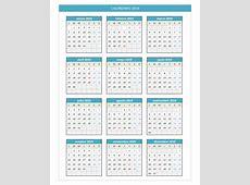 Calendario 2019 PlanillaExcelcom