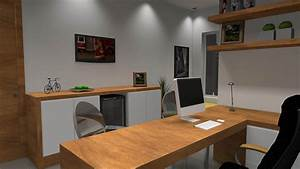 Projetos de Home Office Barbara Borges Projetos 3D