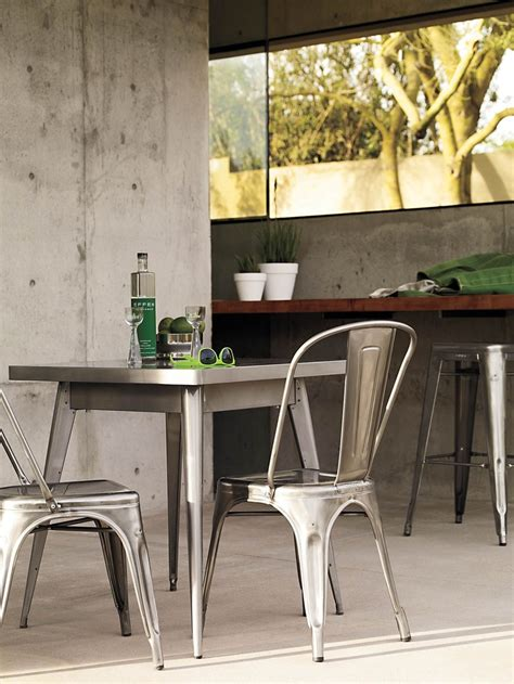 tolix 174 marais two seater dining table designed by jean