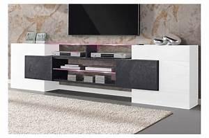 Meuble De Tele Design : meuble tv design led bello cbc meubles ~ Teatrodelosmanantiales.com Idées de Décoration