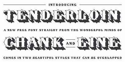 Fonts Font Chank Tenderloin Diesel Lettering Typography