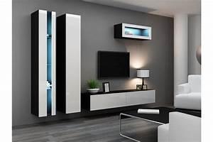 Meuble Sous Tv Suspendu : ensemble meuble tv mural klarmo chloe design ~ Teatrodelosmanantiales.com Idées de Décoration
