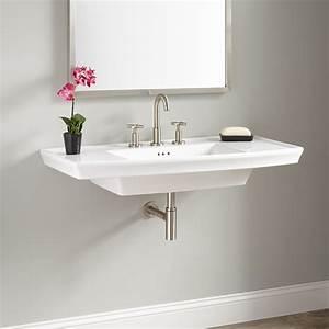 Olney Porcelain Wall-Mount Sink - Bathroom