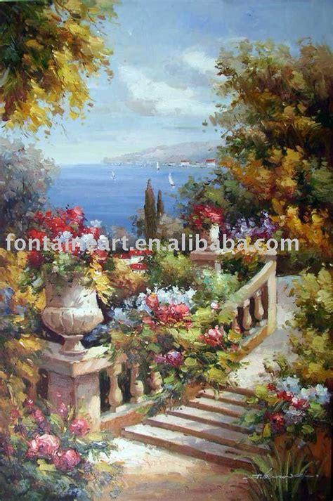 handmade impressionist french ocean flower garden
