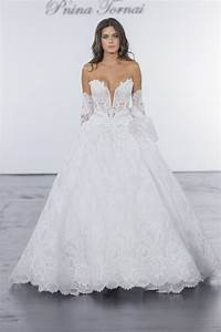 pnina tornai for kleinfeld off the shoulder lace ball gown With pnina tornai wedding dresses