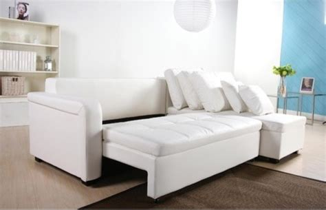 Best Sofa Sleepers 2014 by Contemporary Leather Sectional Sofa With Sleeper