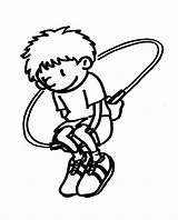 Jump Rope Coloring Pages Jumping Template Printable Dirt Bike Person Sheets sketch template
