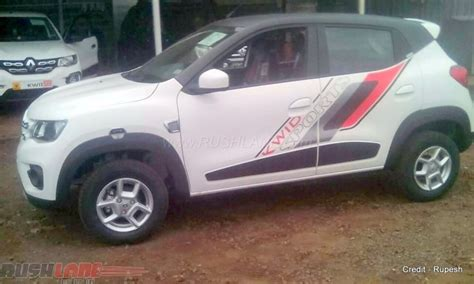 renault kwid white colour one off renault kwid sports with inr 48 000 worth of