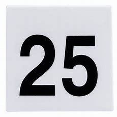 Get Num125 Numbers 1 Through 25 Table Tent Number