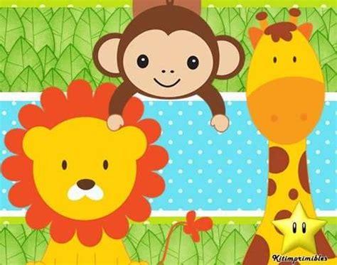 tarjetas para imprimir de animales de la selva buscar con cosas bonitas