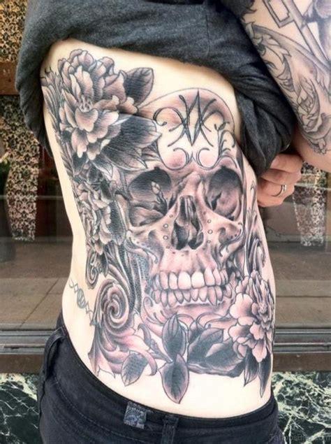 fabulous skull tattoos  rib