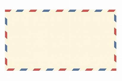 Envelope Airmail Mail Clipart Air Blank Template
