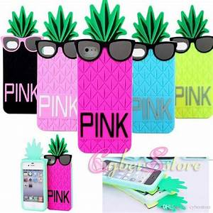 For Iphone 6 4 7 Inch 3D PINK Pineapple Silicone Case Cute